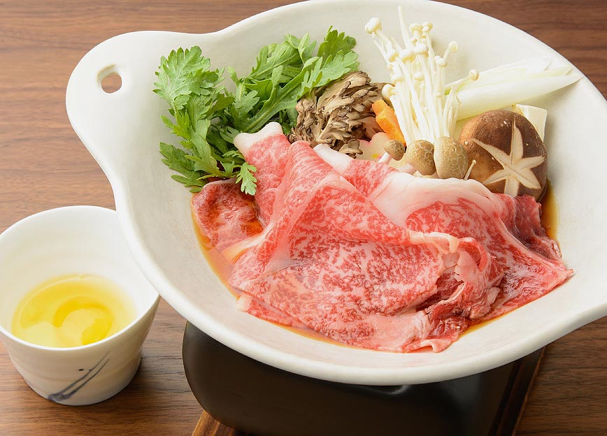 上州和牛リブロースのすき焼き 写真