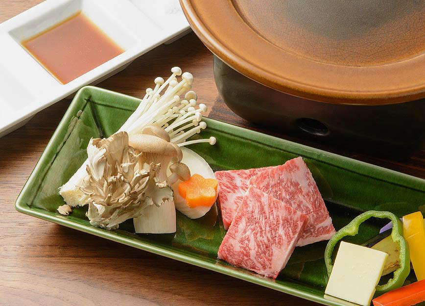 上州和牛サーロインの陶板焼き 写真