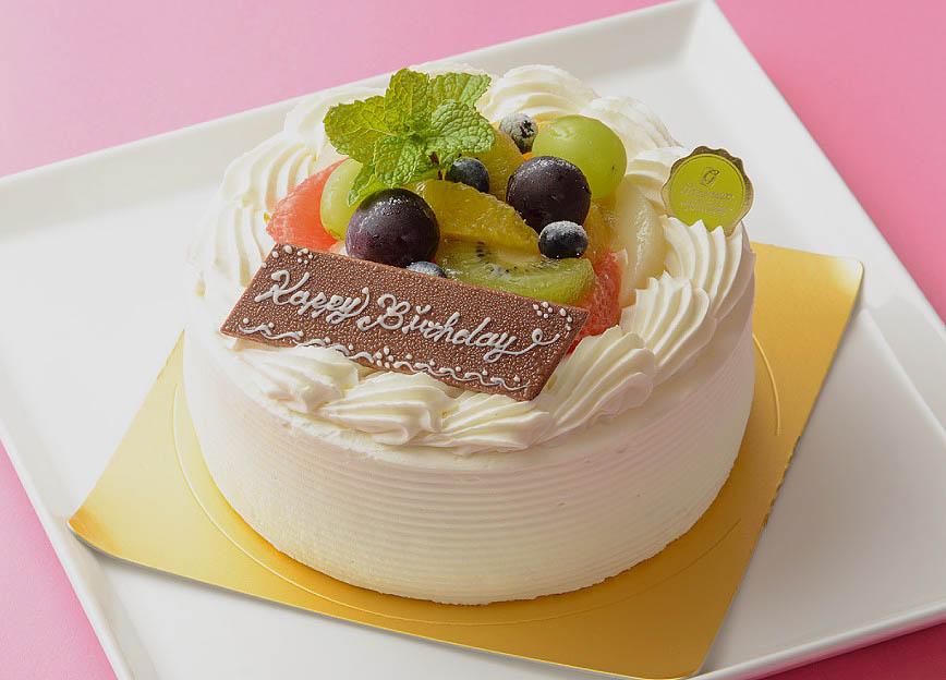 お祝いケーキ 写真