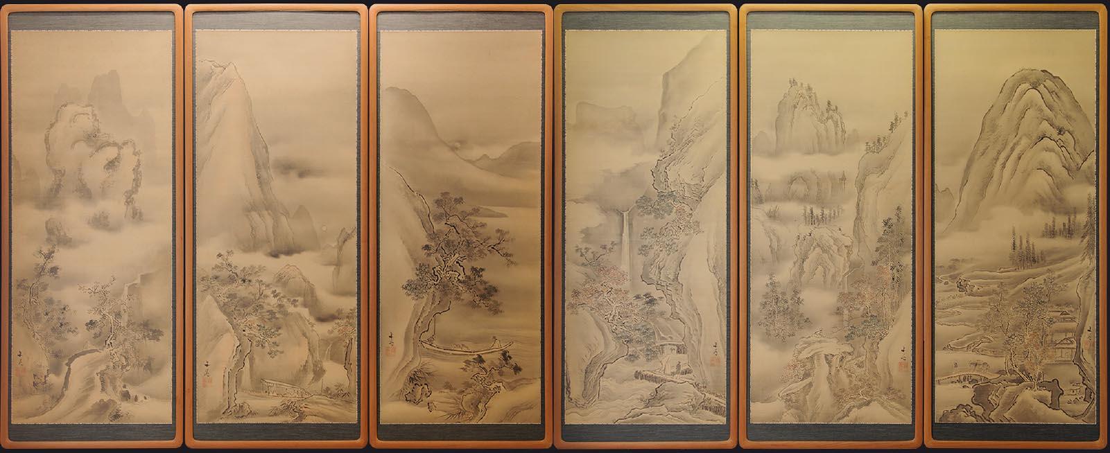 谷文晁の山水画 写真